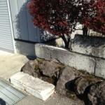 大仙市内S様の門・塀改修工事が始まりました。