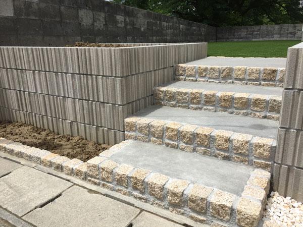 ピンコロ石階段工事
