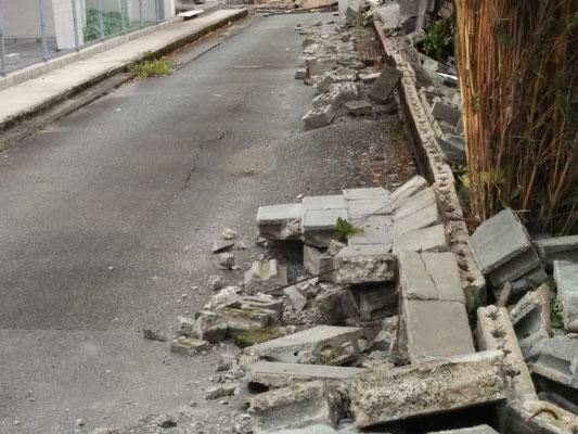 ブロック塀の破損