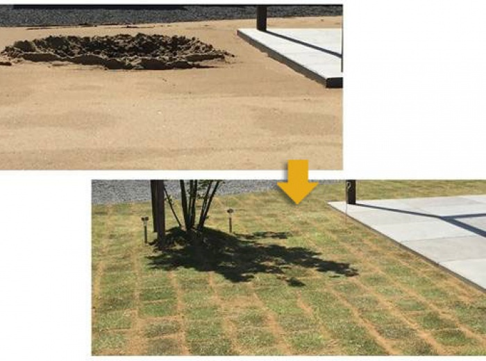 山砂 <br />水はけのよい土です。<br /> 芝生の下地に(目土入れ)芝生を元気に!またはガーデニングや砂場などに適しています。