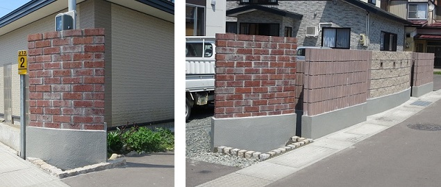 塀の基礎をきれいに仕上げました。