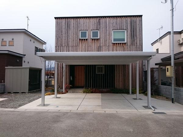 大仙市H様邸 カーポート・土間コンはつり工事
