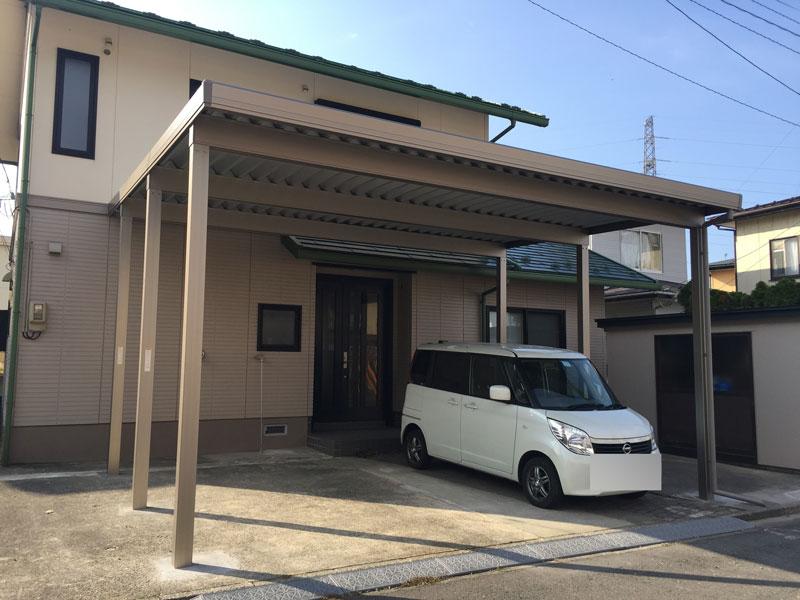 秋田市S様邸 カーポート工事
