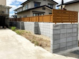 境界ブロックフェンス