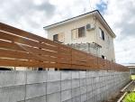 羽後町のお客様 境界塀工事