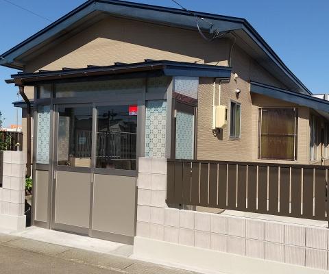 大仙市S様邸 化粧ブロック塀工事